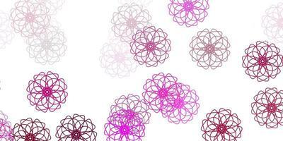 ljusrosa vektor naturlig layout med blommor.