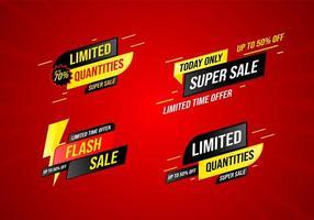 Sammlung von Verkauf Banner Design-Vorlage vektor