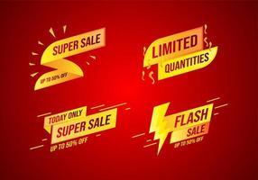 Verkauf Banner Design Kollektion vektor