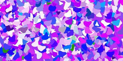 hellrosa, blauer Vektorhintergrund mit zufälligen Formen.