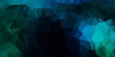 mörkblå, grön vektor triangel mosaik design.
