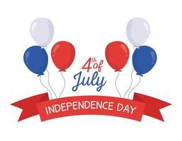 självständighetsdagen ballonger vektor design
