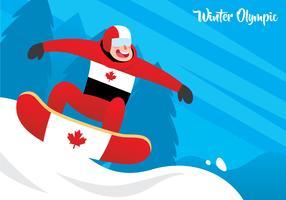 Snowboarder i aktion