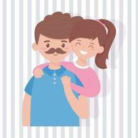Vater und Tochter Vektor-Design vektor