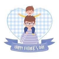 Vater mit Sohn am Vatertag Vektorentwurf