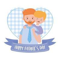 pappa med son på fäder dag vektor design