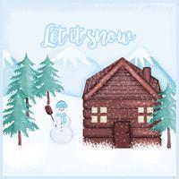 Vektor vinter illustration