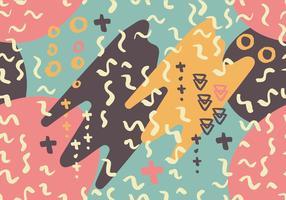 Squiggle sömlös mönster bakgrund vektor