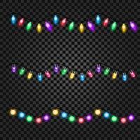 Eine Sammlung bunter Weihnachtsgirlanden für Ihre Kreativität vektor