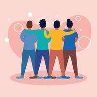 män avatarer vänner vektor design