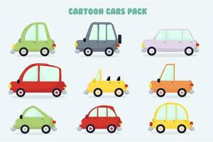 Cartoon Autos Illustration Pack vektor