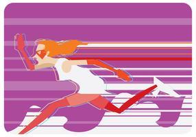 super snabb löpare kvinnor vektor