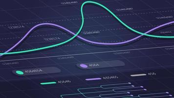 digitalt gränssnitt med linjär grafik, modern digital bakgrund för din kreativitet vektor