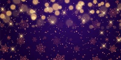 jul banner design med stjärnor och bokeh lampor
