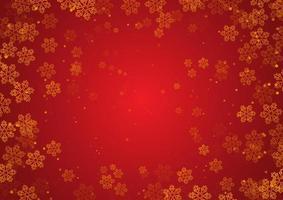 goldene Weihnachtsschneeflocken