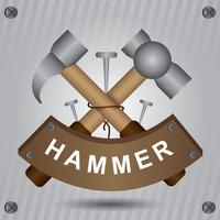 Vorschlaghammer-Dekoration vektor