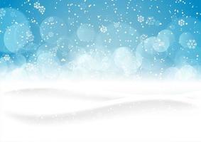 jul snöig landskap bakgrund