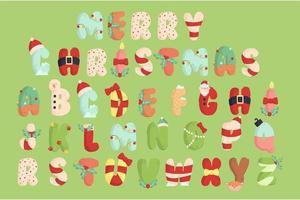 Weihnachtsalphabet Illustrationssatz vektor