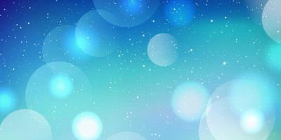 Weihnachtsbanner mit Bokeh-Lichtern und Schneedesign vektor