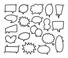 Sammlung von handgezeichneten Sprechblasen vektor