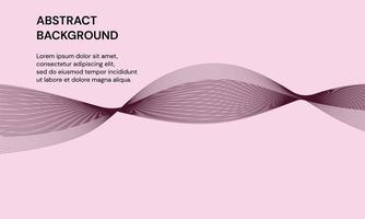 modern abstrakt bakgrund med dynamiska våglinjer i lila färg vektor