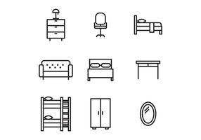 Svartvit möbler vektor