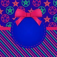 gratulationskort mall design med färgglada mönster stjärnor och ränder
