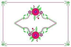 horizontale Vintage Blumenkartenschablonenentwurf für Hochzeits- und Einladungskarte