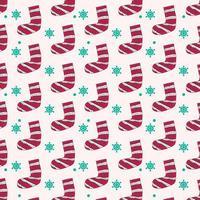 strumpa och snöflinga mönster för tryck design