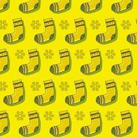 gelbe Strumpfmusterschablonenentwurf für Druckentwurf