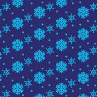 abstrakter Schneeflockenmusterentwurf auf dunkelblauem Hintergrund für Druckentwurf