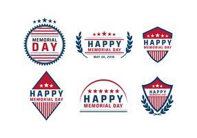 Memorial Day-Logo-Vektor vektor