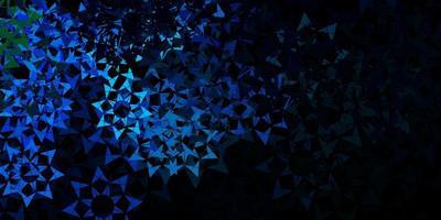 mörkblå vektor bakgrund med månghörnigt stil.