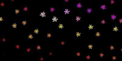 dunkle mehrfarbige Vektortextur mit Krankheitssymbolen.