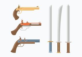 Musketier-Waffensammlung vektor
