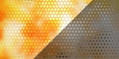 ljus orange vektor layout med cirklar.
