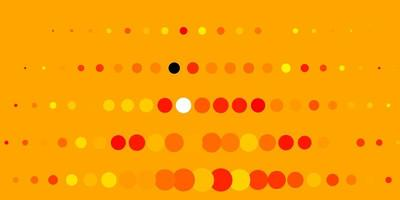 ljus orange vektor konsistens med cirklar.