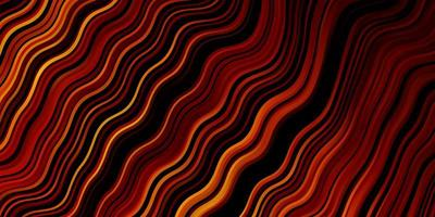 mörk orange vektormall med sneda linjer. vektor