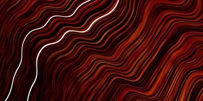 dunkelorange Vektorschablone mit schiefen Linien.