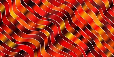 mörk orange vektormall med sneda linjer.