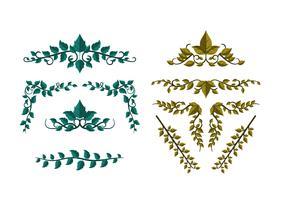 Kostenlose Poison Ivy Leave Ornament Vektor