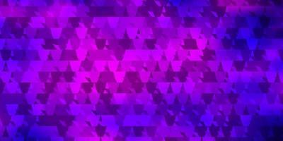 dunkelvioletter Vektorhintergrund mit Dreiecken. vektor