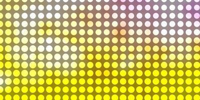 hellrosa, gelbe Vektorschablone mit Kreisen.