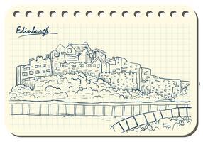 Edinburgh-Skizze in der Buch-Illustration vektor