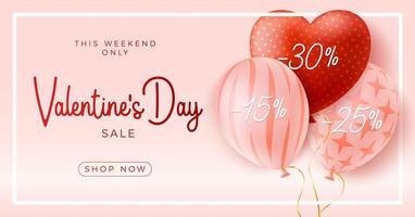 glücklicher und sicherer Valentinstag-Verkaufshintergrund