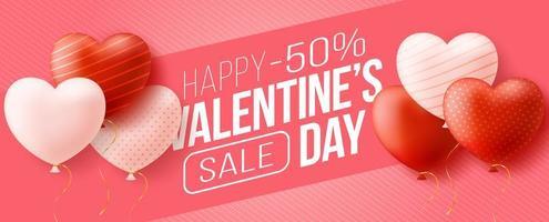 promo webb banner för alla hjärtans dag försäljning