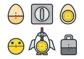 Kostenlose Eieruhr Icons Vector
