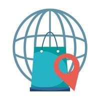 plats world bag e-handel online shopping covid 19 coronavirus vektor