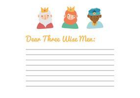 Brief an die Heiligen Drei Könige vektor