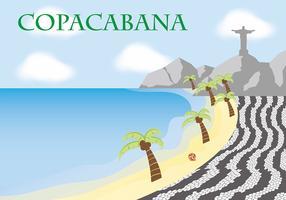 copacabana texturvektor vektor